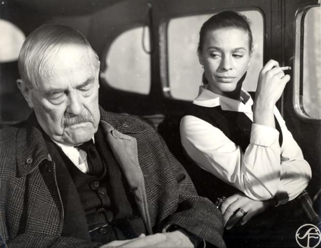 Ingrid Thulin och Viktor Sjöström i Smultronstället