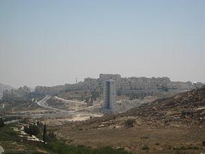 Har Homa, en av de största israeliska bosättningarna på Västbanken.